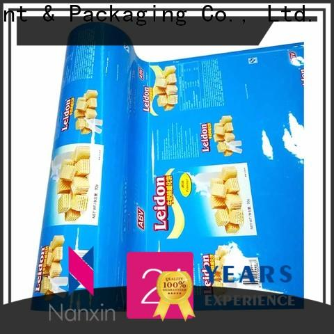 Nanxin Print & Packaging automatic printed flexible packaging film manufacturers for candy