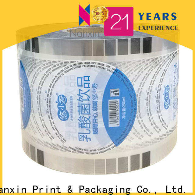 Nanxin Print & Packaging Wholesale cup sealer film supply for shop mall