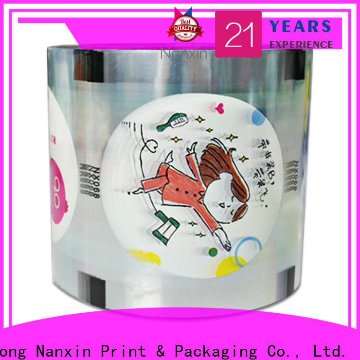 Nanxin Print & Packaging Best cup sealer film factory for jelly