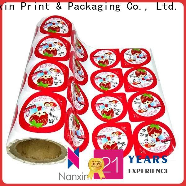 Nanxin Print & Packaging pet/al/cpp printed packaging film factory for cookies