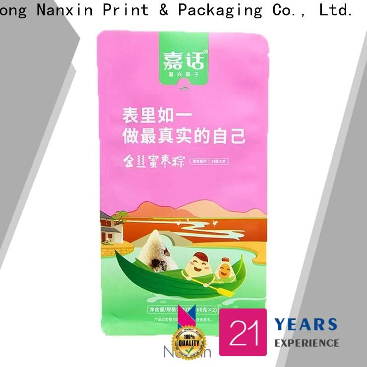 Nanxin Print & Packaging paper flat bottom gusset bags supply for cookies
