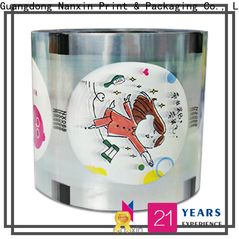 Custom bubble tea sealing film pet/cpp manufacturers for jelly