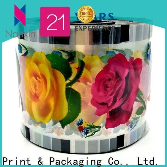 Nanxin Print & Packaging pet/cpp cup sealing film for business for shop mall