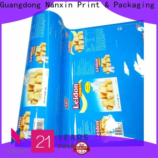Nanxin Print & Packaging Best printed plastic roll factory for pudding