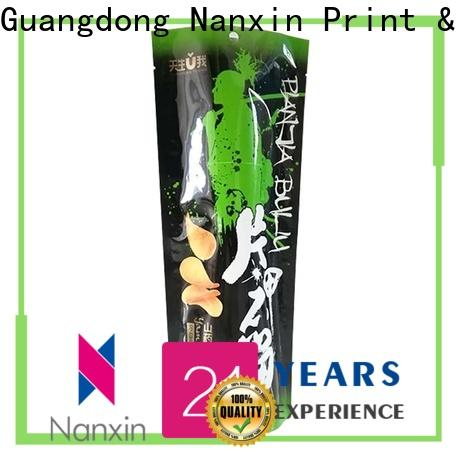 Nanxin Print & Packaging resealed zipper stand up pouch for business for dried fruit or vegetable
