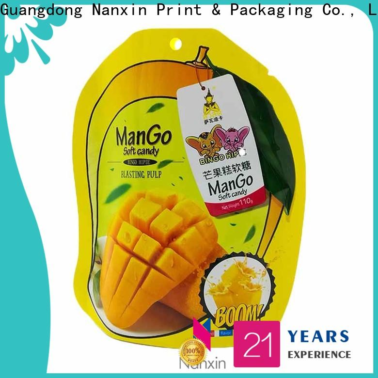 Nanxin Print & Packaging Top standing up pouch supply for pet foods