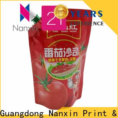 Nanxin Print & Packaging customized spout pouches wholesale for liquids