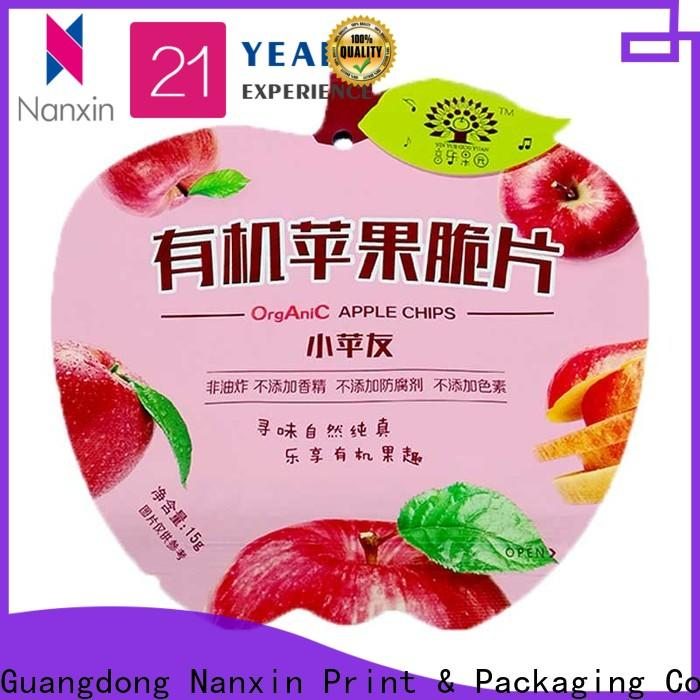 Custom flexible pouches packaging pet/pe manufacturers for foods