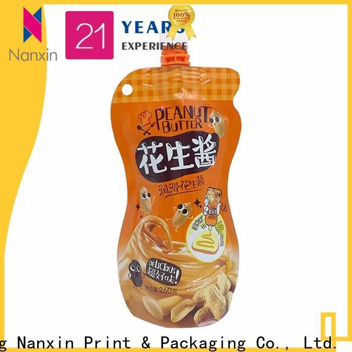 Nanxin Print & Packaging special shape liquid spout bag factory for liquids