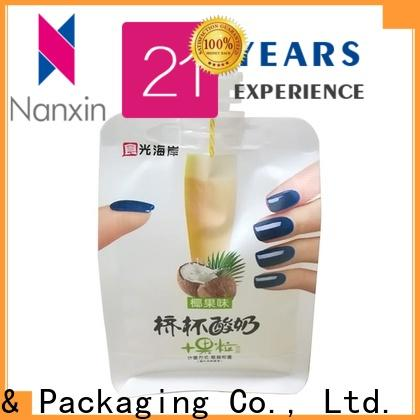 Nanxin Print & Packaging special shape spout pouch packaging manufacturers for lotion