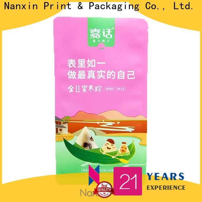 Nanxin Print & Packaging ziplock flat bottom pouch factory for cookies