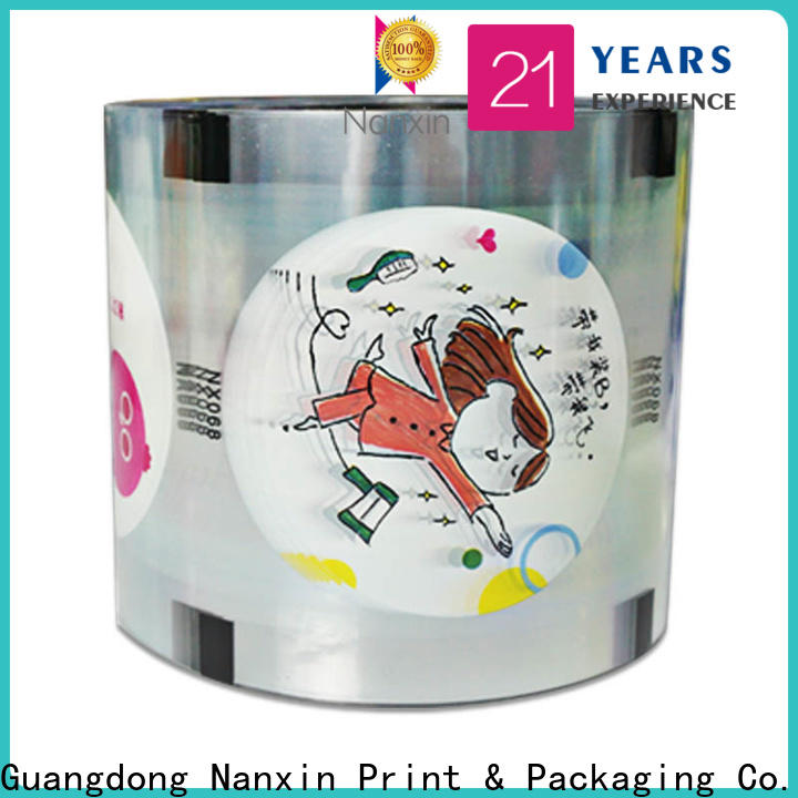 Custom plastic cup sealing film pet/cpp factory for drinks