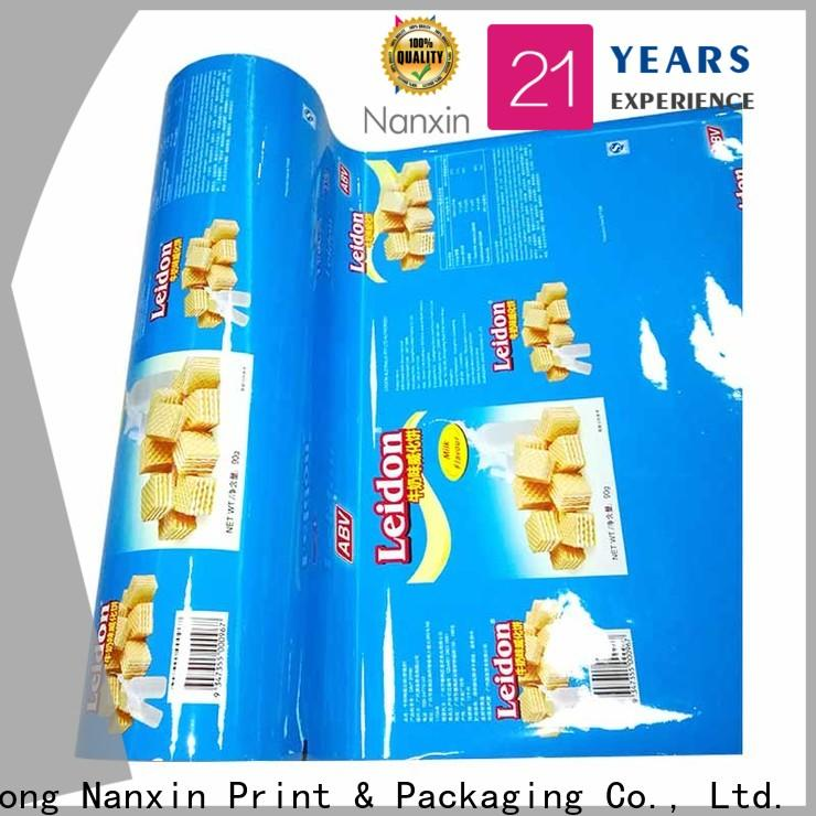 Nanxin Print & Packaging highlight glossy flexible packaging film for business for pudding