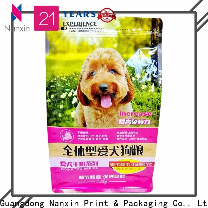Nanxin Print & Packaging heat seal flat bottom pouch for business for snack