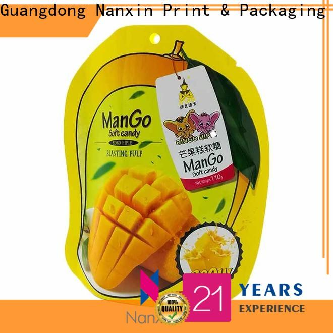 Nanxin Print & Packaging Latest stand up zipper bag suppliers fpr snacks