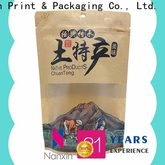 Nanxin Print & Packaging Custom standing up pouch factory fpr snacks