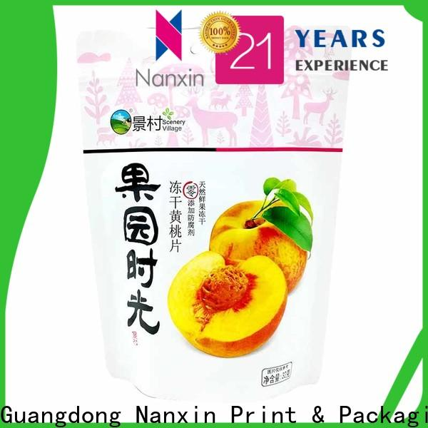 Nanxin Print & Packaging High-quality stand up pouch packaging supply for dried fruit or vegetable