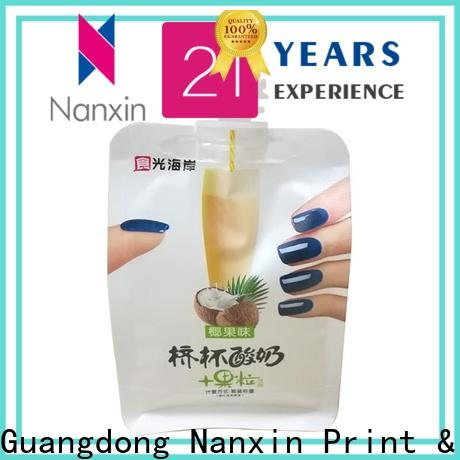 Nanxin Print & Packaging Latest liquid spout bag for business for yoghurt