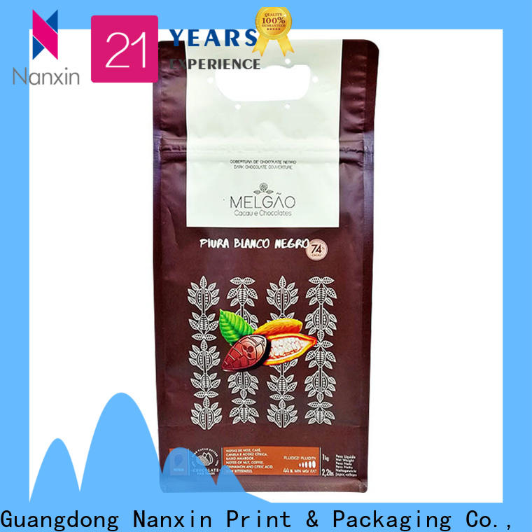 Nanxin Print & Packaging paper flat bottom gusset bags factory for cookies