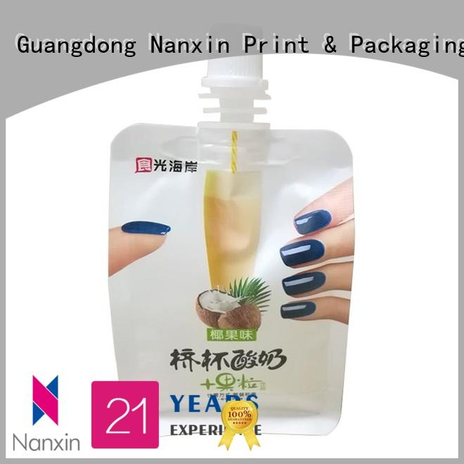 Top spout pouch laminated films manufacturers for juice