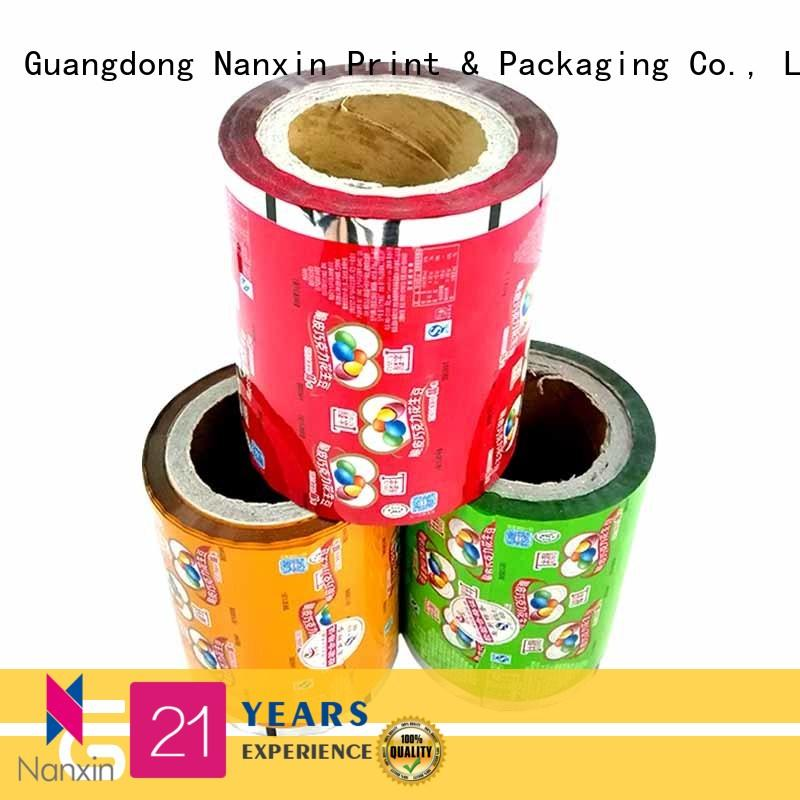 Nanxin Print & Packaging metallic luster printed film packaging low cost candy