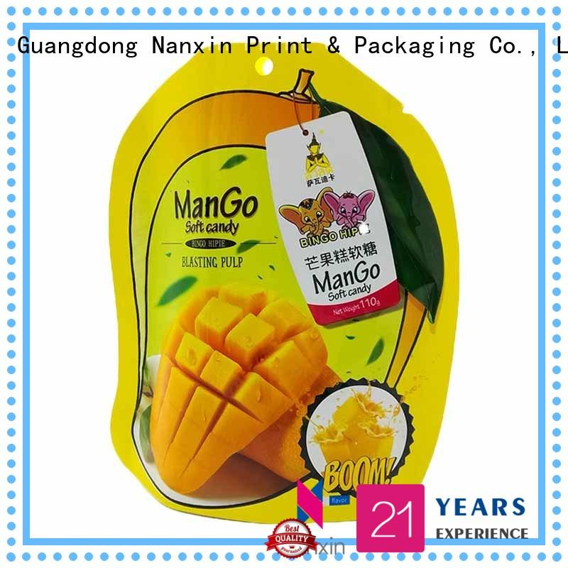 Nanxin Print & Packaging Latest stand up pouch suppliers for dried fruit or vegetable