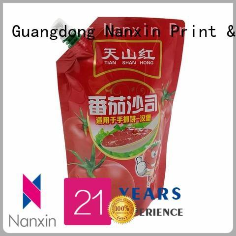 Nanxin Print & Packaging nozzle spout pouches hygienic juice