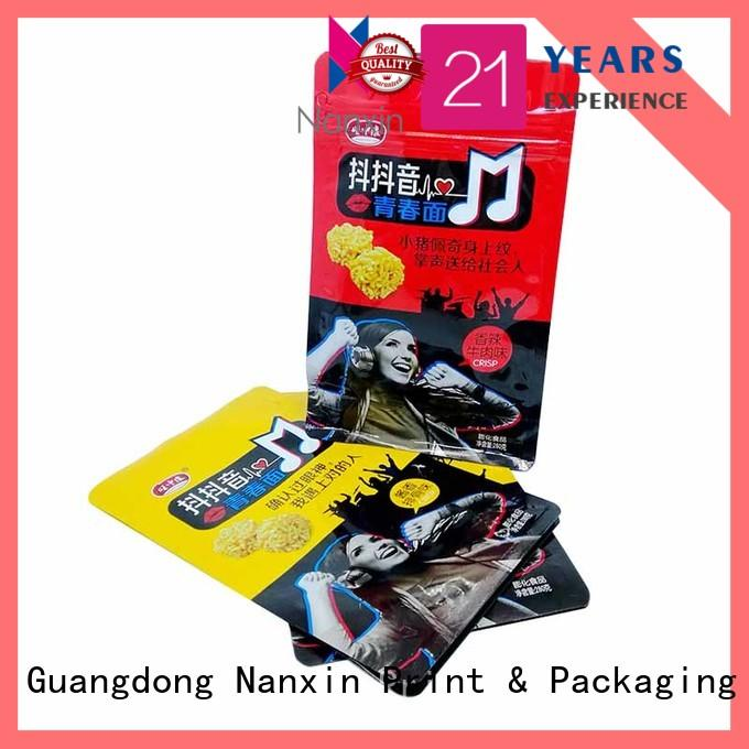 Nanxin Print & Packaging ziplock flat bottom pouch for business for snack
