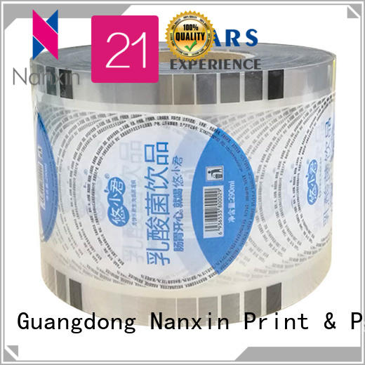 Nanxin Print & Packaging High-quality cup sealer film suppliers for shop mall