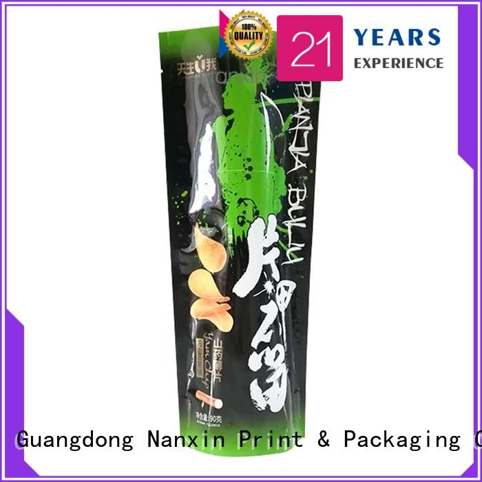 easy shelf display stand up ziplock pouch heat seal nice color printing dried fruit or vegetable