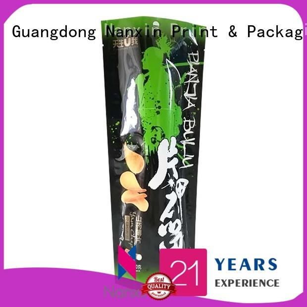 Nanxin Print & Packaging plastic standy pouch supply fpr snacks