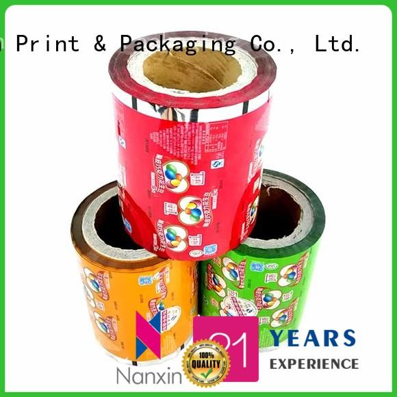 Nanxin Print & Packaging light proof printed plastic roll low cost pudding