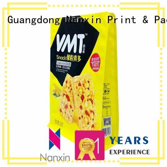 Nanxin Print & Packaging customized flat bottom packaging bag zipper cookies