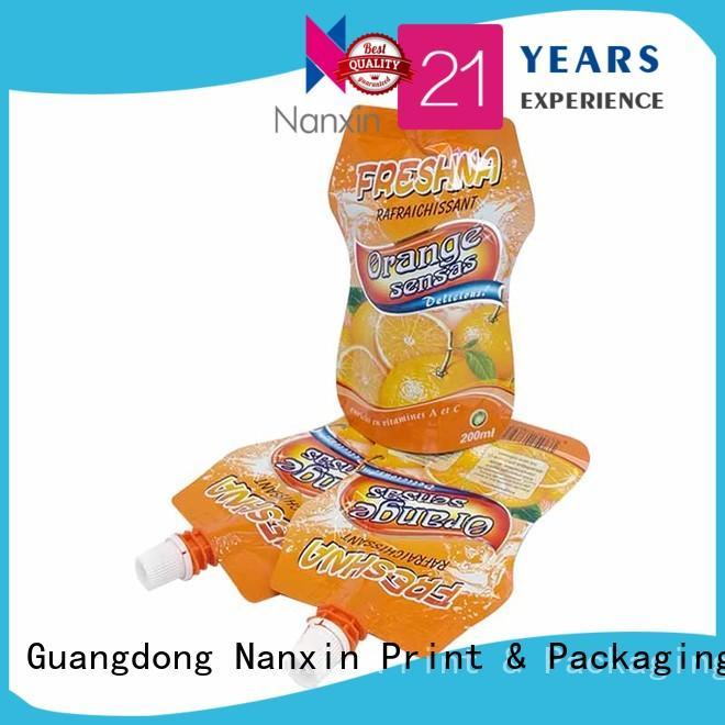 Top spout pouch pet/pe for business for lotion