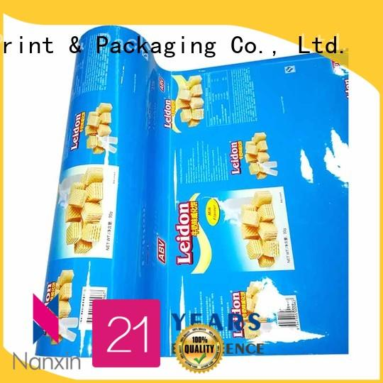 Nanxin Print & Packaging multicolored laminated film for food packaging long save time pudding