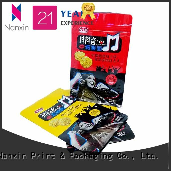 paper flat bottom gusset bags firm cookies Nanxin Print & Packaging