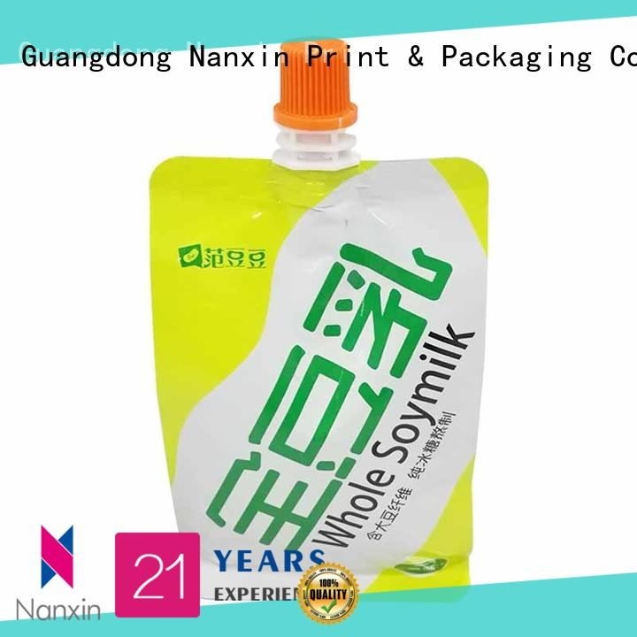 Nanxin Print & Packaging hanging hole spout pouch packaging flexible sauce