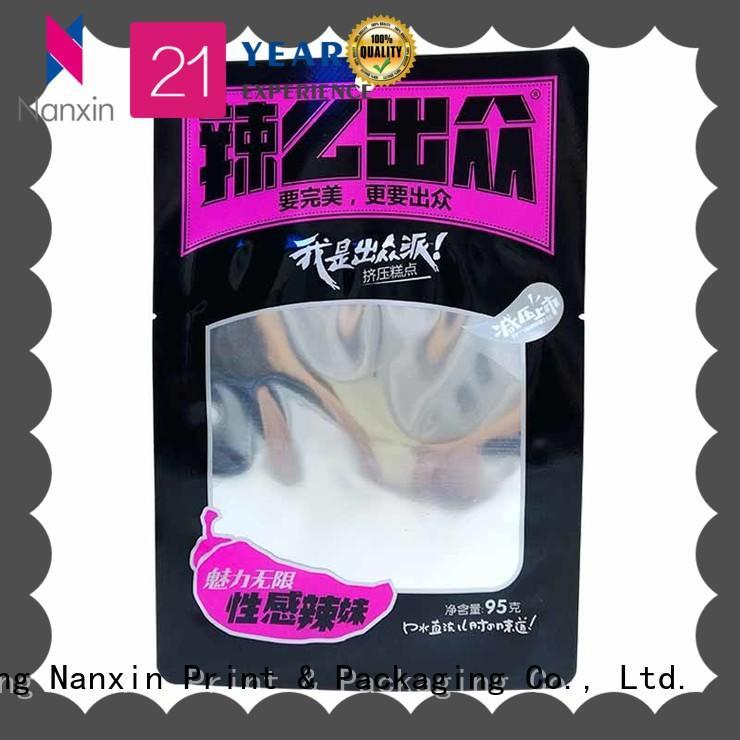 Nanxin Print & Packaging transparent food packaging pouches vacuum packaging liquids