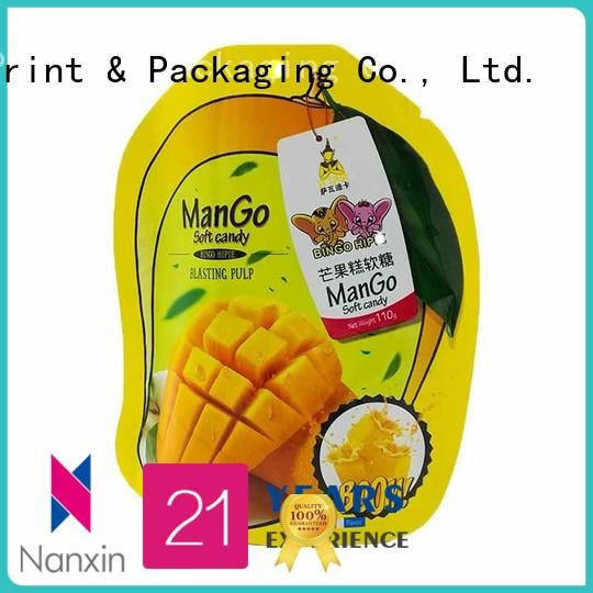 Nanxin Print & Packaging zipper standing up pouch nice color printing Pet foods