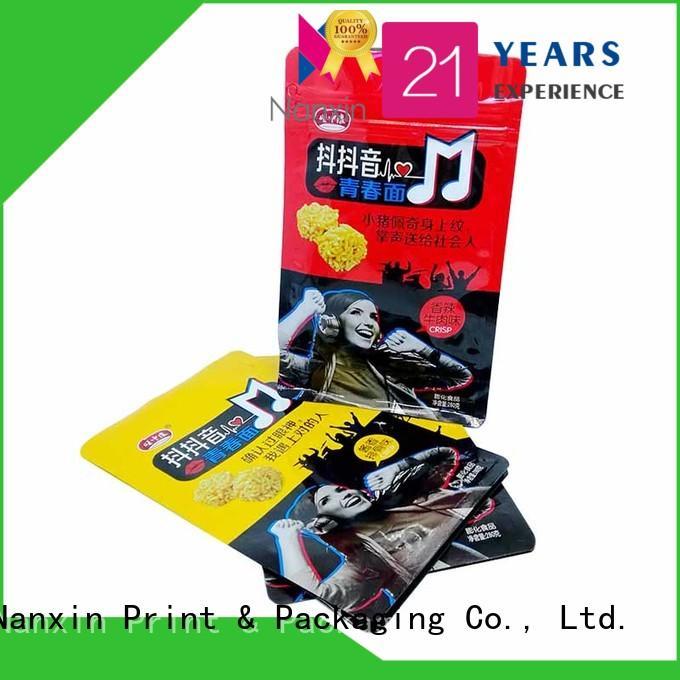 flat bottom bag paper foods Nanxin Print & Packaging