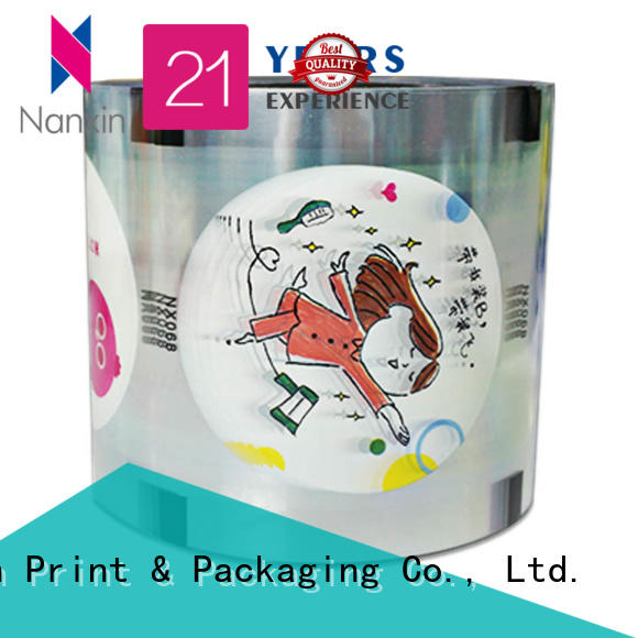 Wholesale plastic cup sealing film semi-transparent for business for drinks