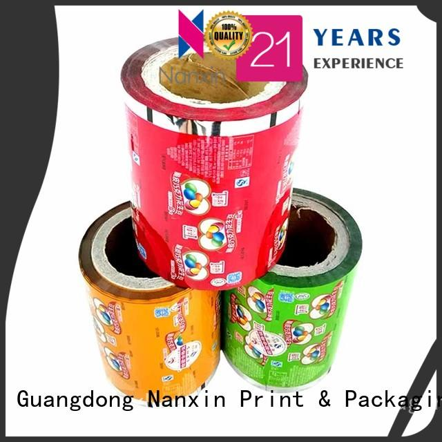 Nanxin Print & Packaging metallic luster printed packaging film low cost cookies