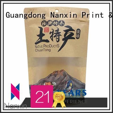 Nanxin Print & Packaging easy shelf display standy pouch easy reclosing Snacks