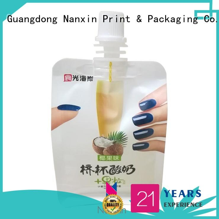 Nanxin Print & Packaging Top spout pouches factory for yoghurt