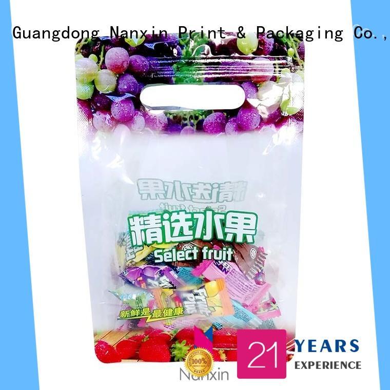 heat seal wire pouch packaging ziplock snacks Nanxin Print & Packaging