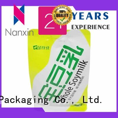 Nanxin Print & Packaging convenient used liquid spout bag high capacity yoghurt