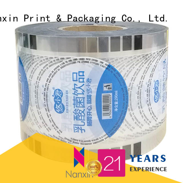 Nanxin Print & Packaging semi-transparent cup sealing film manufacturers for drinks