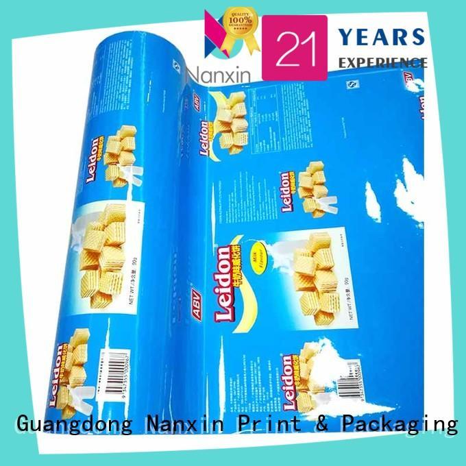 Nanxin Print & Packaging Top printed plastic roll manufacturers for cookies