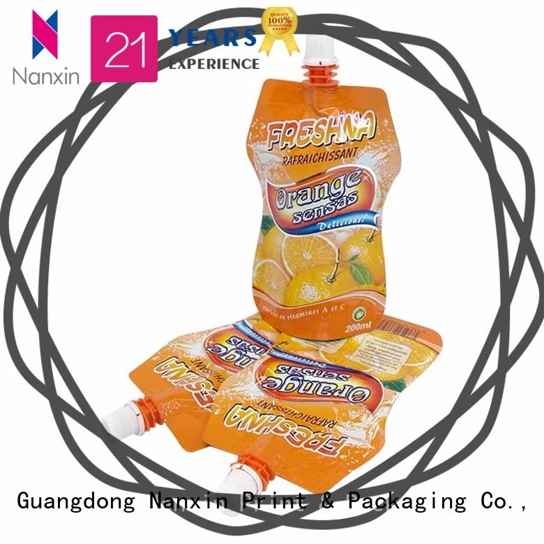 environmentally friendly spout pouch packaging special shape high capacity juice