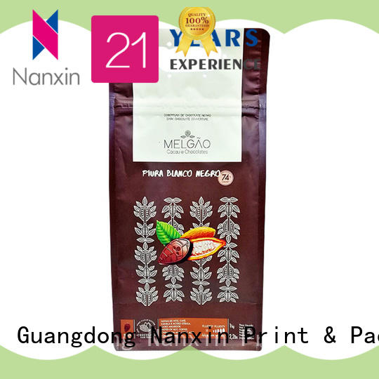 Nanxin Print & Packaging Wholesale flat bottom gusset bags company for snack